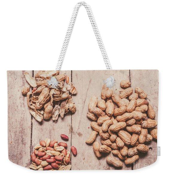 Peanut Shelling Weekender Tote Bag