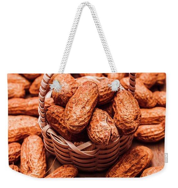 Peanuts In Tiny Basket In Close-up Weekender Tote Bag