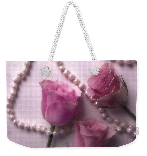 Pearls And Roses 2 Weekender Tote Bag