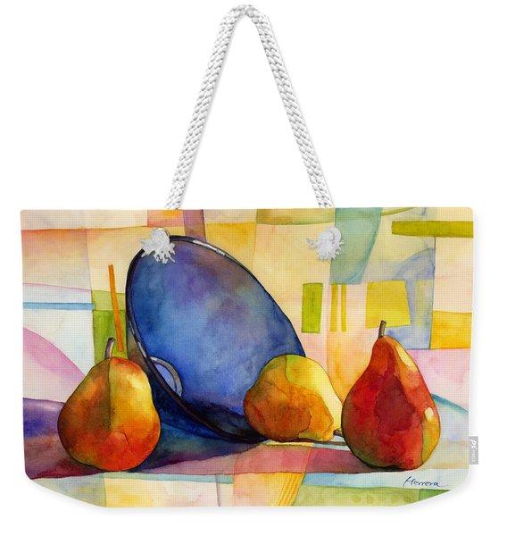 Pears And Blue Bowl Weekender Tote Bag