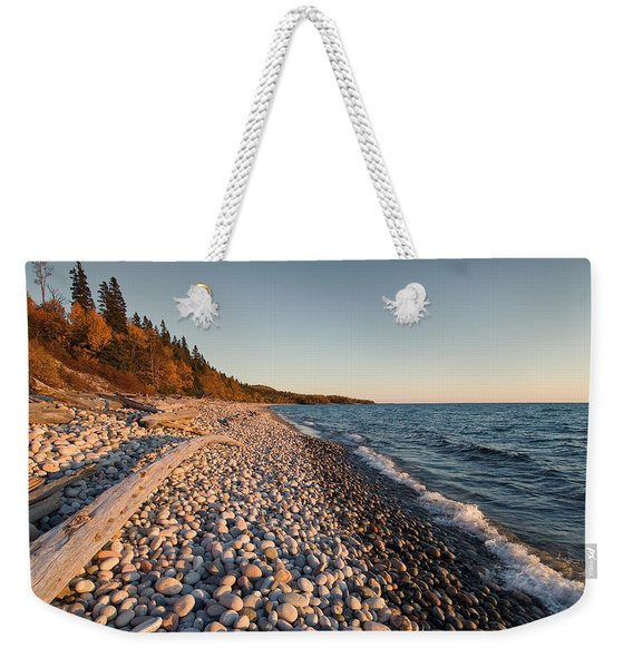Weekender Tote Bag featuring the photograph Pebble Beach Autumn    by Doug Gibbons
