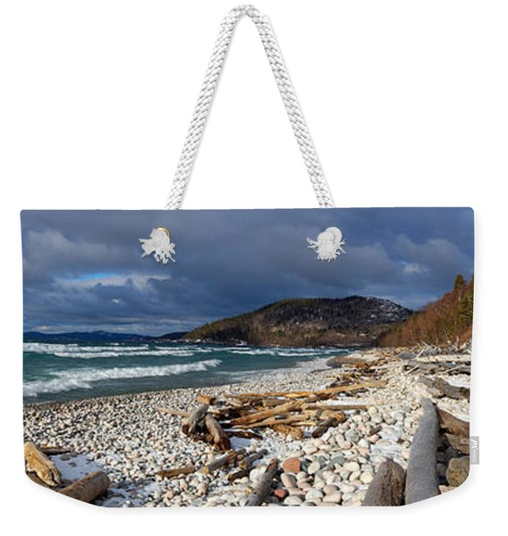 Weekender Tote Bag featuring the photograph Pebble Beach by Doug Gibbons