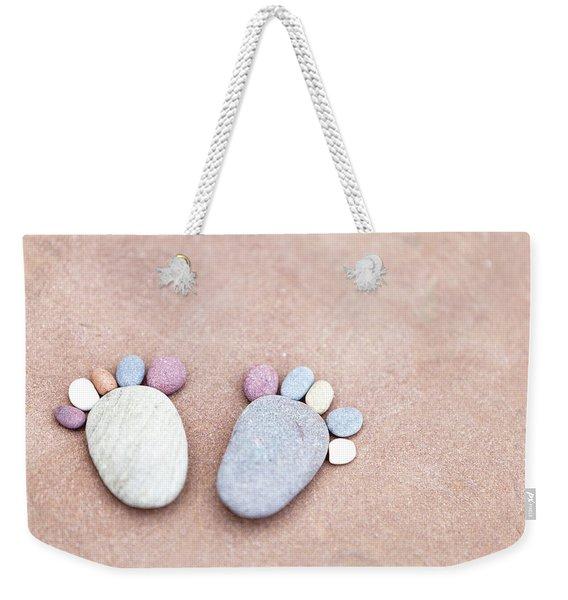 Pebble Feet Weekender Tote Bag