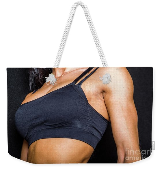 Weekender Tote Bag featuring the photograph Pectorals by Benny Marty