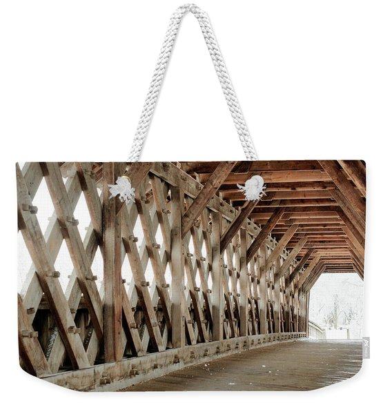 Pedestrian Bridge Guelph Ontario Weekender Tote Bag