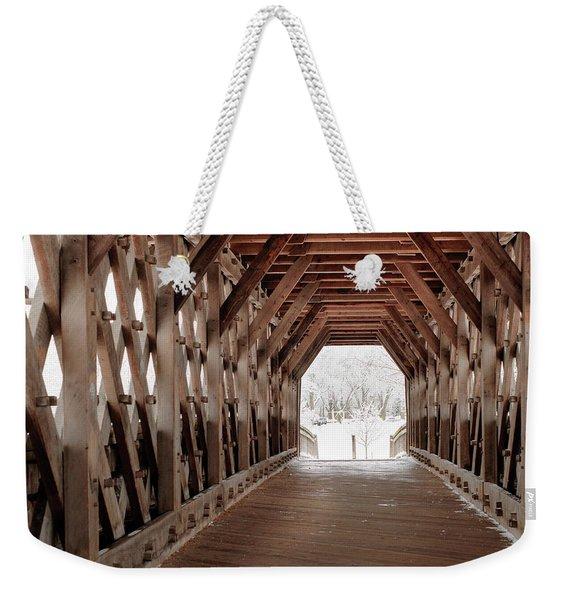 Pedestrian Lattice Bridge Weekender Tote Bag