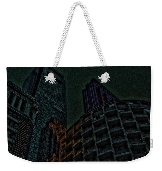 Pedestrian Urban Sunset Weekender Tote Bag