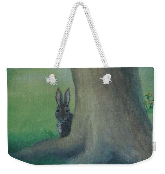 Peek A Boo Behind The Tree Weekender Tote Bag