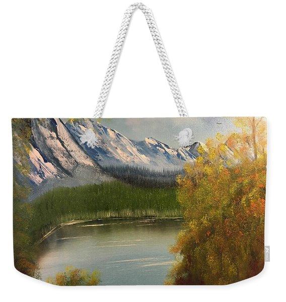 Peek-a-boo Mountain Weekender Tote Bag