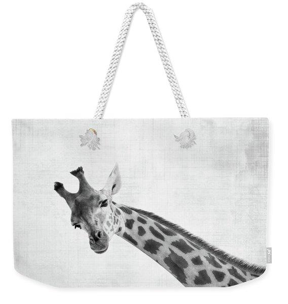 Peekaboo Giraffe Weekender Tote Bag
