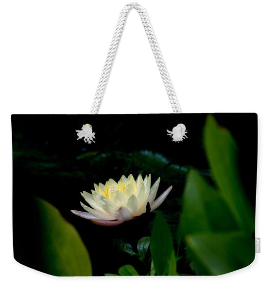 Peekaboo Lemon Water Lily Weekender Tote Bag