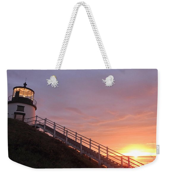 Peeking Sunrise Weekender Tote Bag