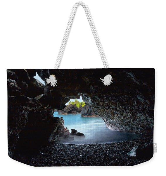 Peeking Through The Lava Tube Weekender Tote Bag