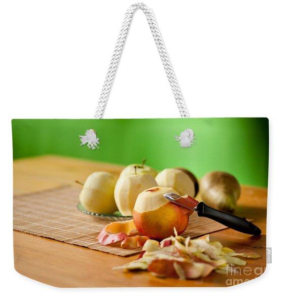 Peeling Apples And Pears Weekender Tote Bag
