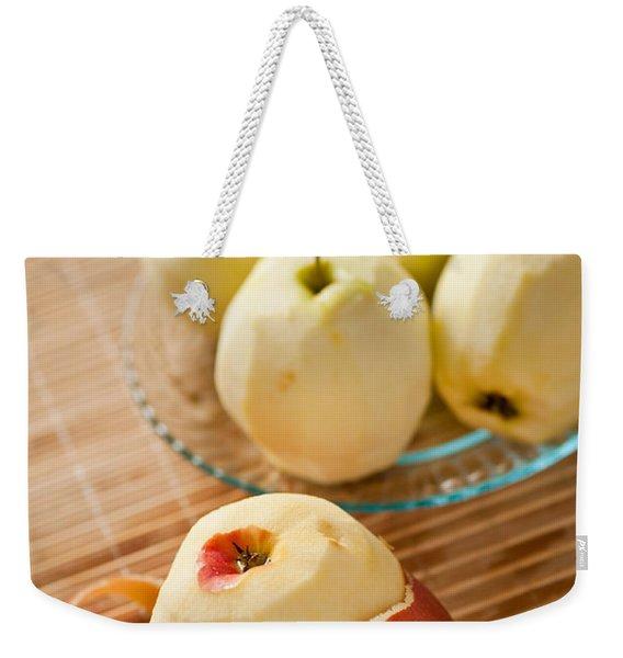 Peeling Apples Tool Fresh Fruit Weekender Tote Bag