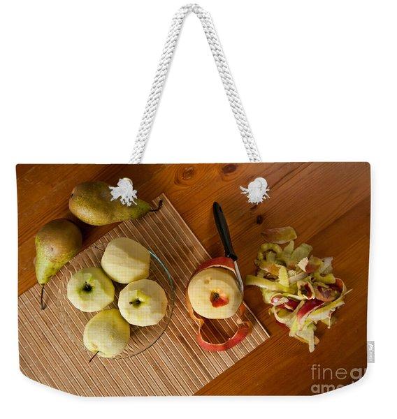 Peeling Ripe Fruits Apples And Pears Weekender Tote Bag