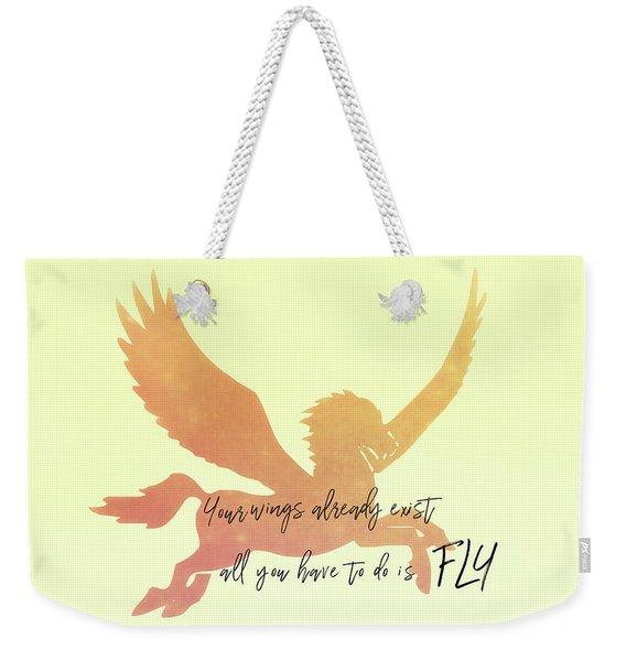 Pegasus Flight Weekender Tote Bag