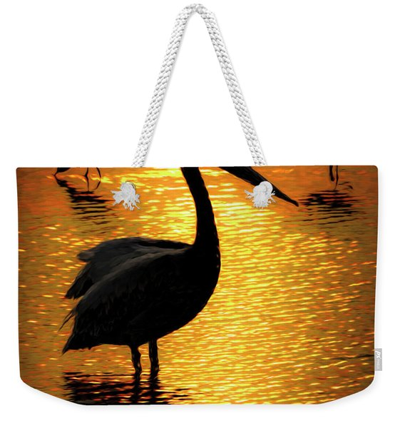 Pelican And Avocets Weekender Tote Bag
