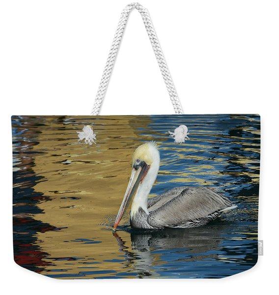 Pelican In Watercolors Weekender Tote Bag