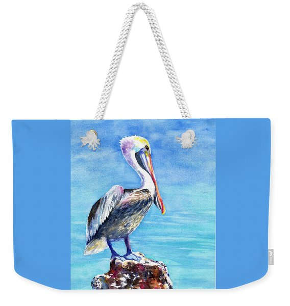 Pelican On A Post  Weekender Tote Bag