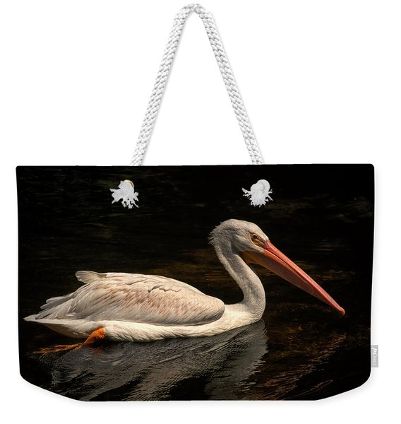 Pelican Swimming In Salisbury Weekender Tote Bag