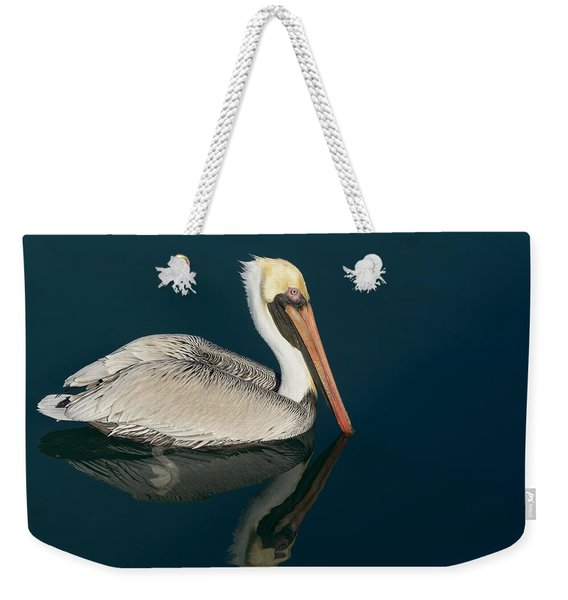 Pelican With Reflection Weekender Tote Bag