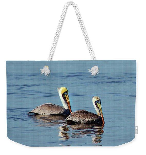 Pelicans 2 Together Weekender Tote Bag