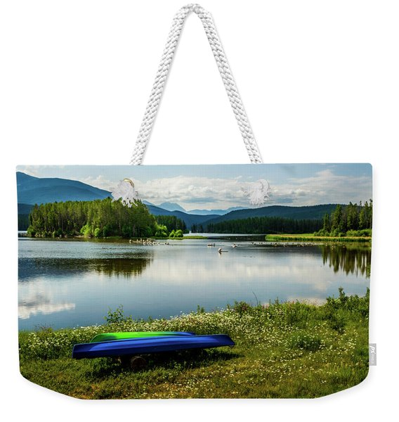 Pelicans At Shadow Mountain Lake Weekender Tote Bag