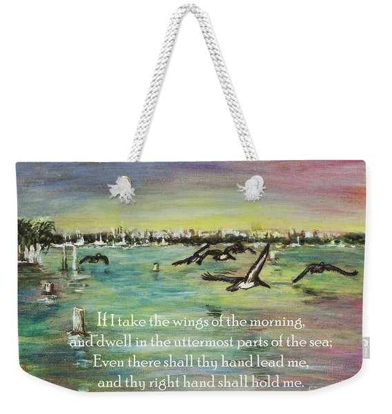 Pelicans Fly Psalm 139 Weekender Tote Bag