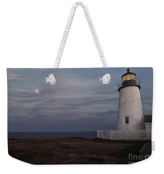 Pemaquid And Full Moon Weekender Tote Bag