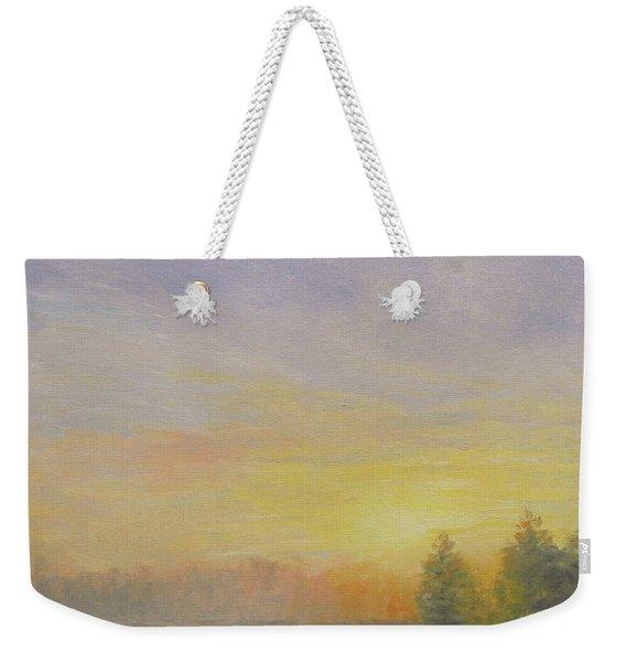 Pemaquid Beach Sunset Weekender Tote Bag