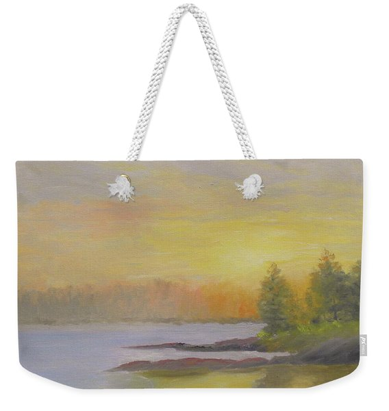 Pemaquid Beach Sunset Weekender Tote Bag