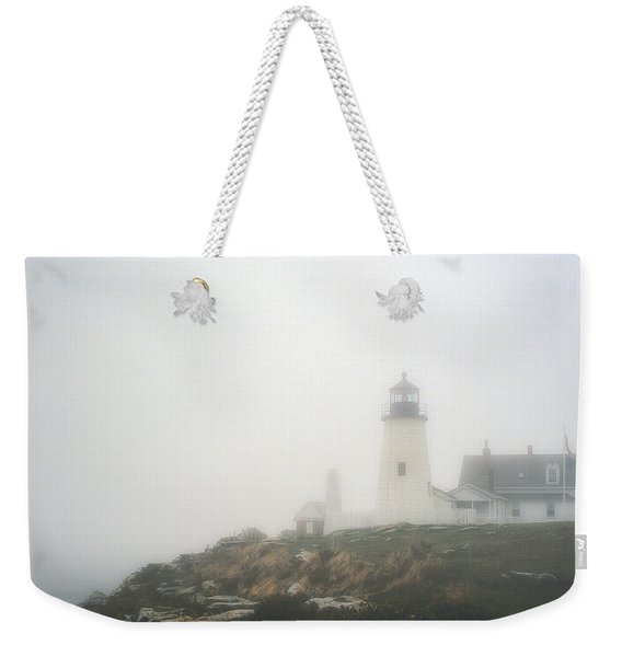 Pemaquid Point Lighthouse In Fog Weekender Tote Bag