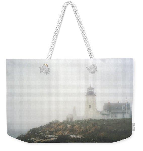 Pemaquid Point Lighthouse In Fog Weekender Tote Bag