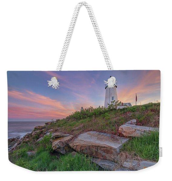 Pemaquid Point Sunset Weekender Tote Bag