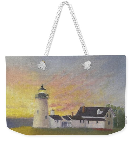 Pemaquid's First Light Weekender Tote Bag
