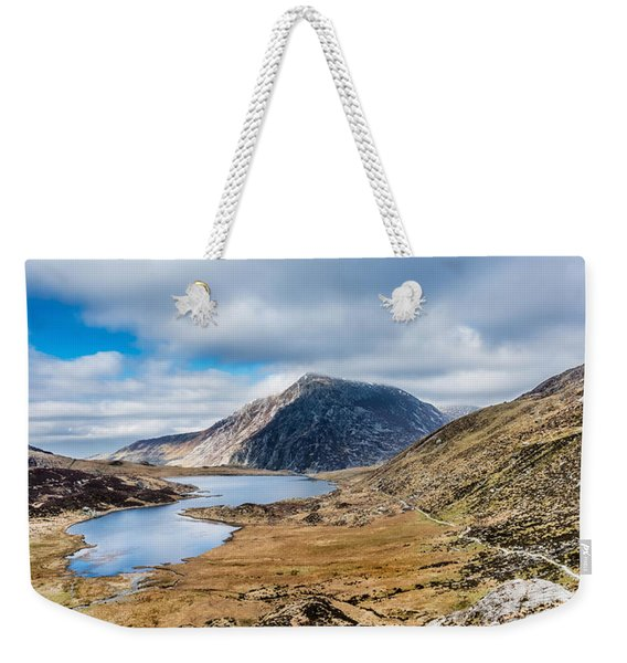 Weekender Tote Bag featuring the photograph Pen Yr Ole Wen by Nick Bywater