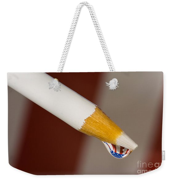 Pencil Flag Drop Weekender Tote Bag