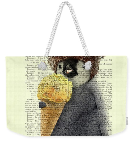 Penguin Ice Cream Weekender Tote Bag