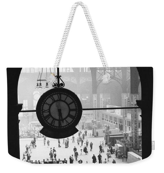 Penn Station Clock Weekender Tote Bag