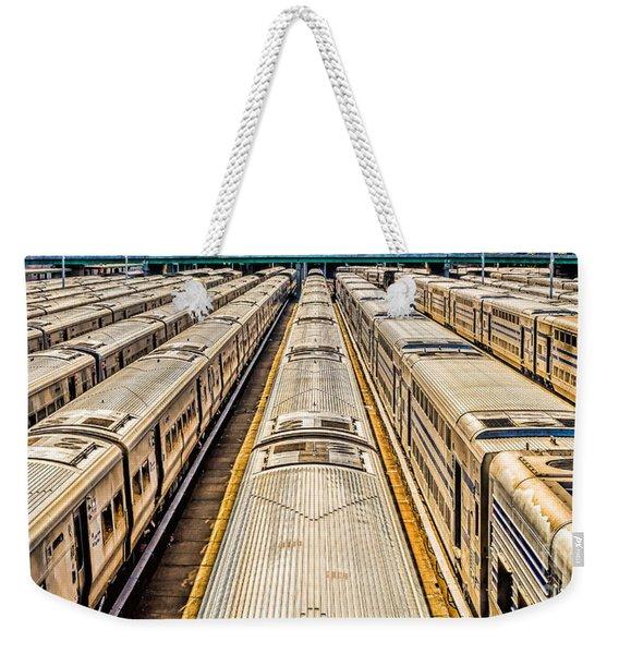 Penn Station Train Yard Weekender Tote Bag