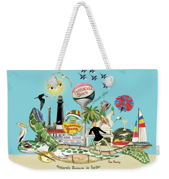 Pensacola Protects Its Turtles Weekender Tote Bag