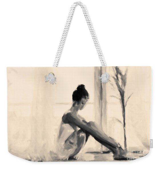 Pensive Ballerina Weekender Tote Bag