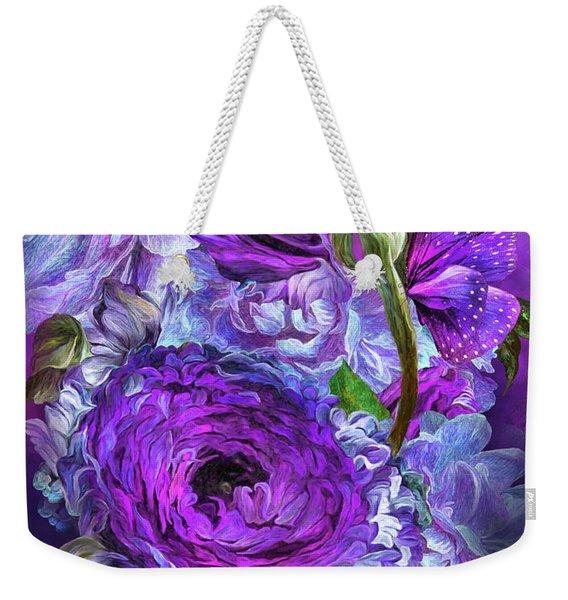 Peonies In Lavenders Weekender Tote Bag