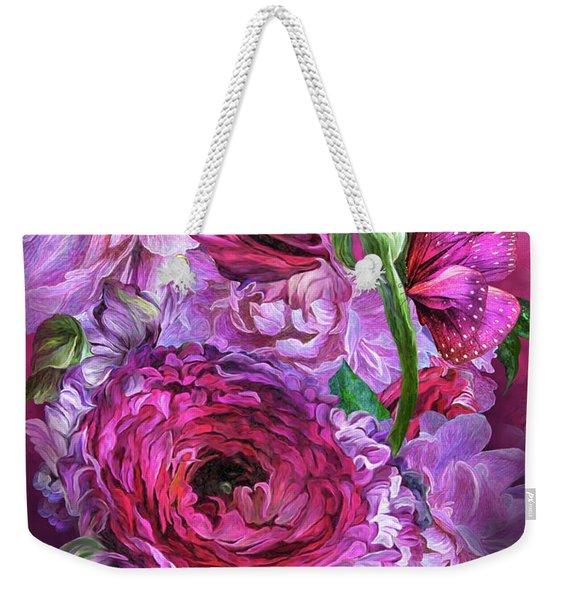 Peonies In Pinks Weekender Tote Bag