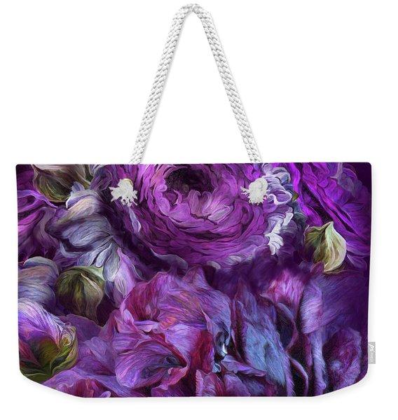 Peonies In Purples  2 Weekender Tote Bag