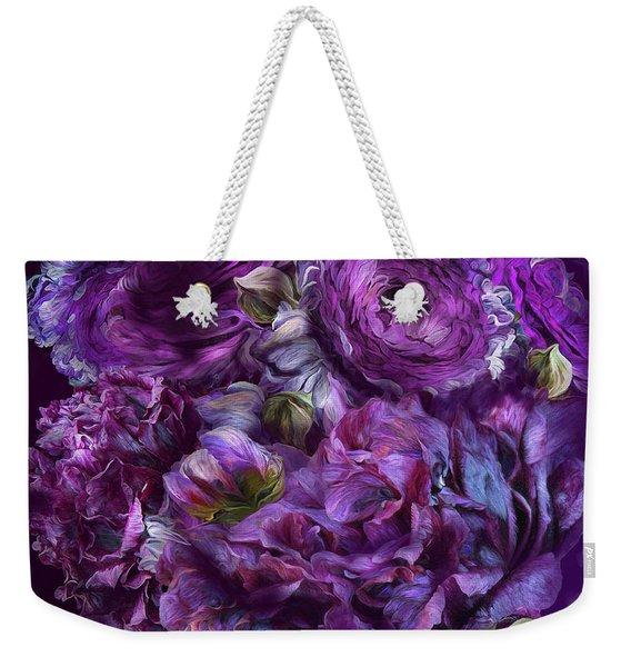 Peonies In Purples Weekender Tote Bag