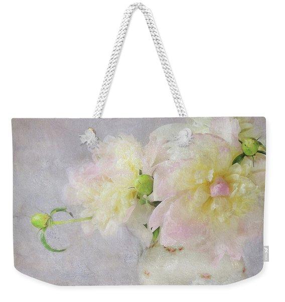 Peony Bouquet Weekender Tote Bag