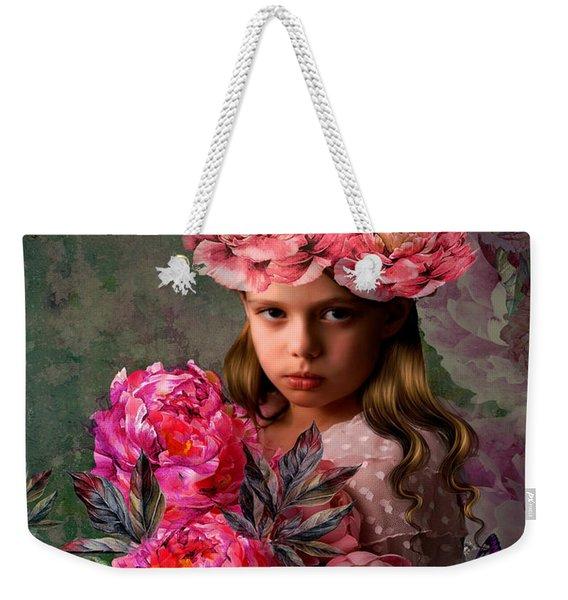 Peony Flower Child 002 Weekender Tote Bag