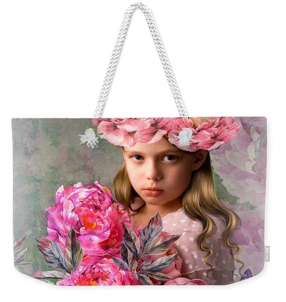 Peony Flower Child Weekender Tote Bag